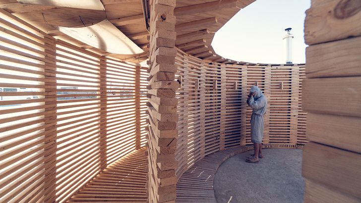 """burning man festival sauna JKMM architects indiaartndesign"""