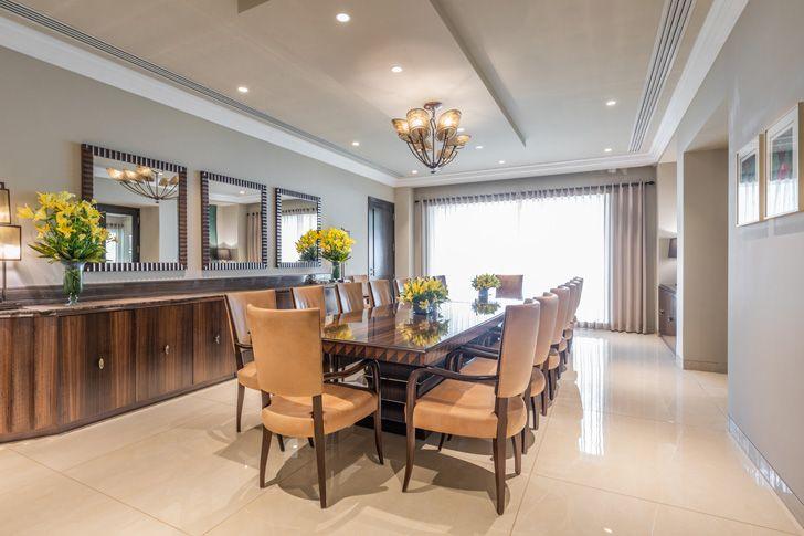 """dining area Lutyens residence Creative Design Architects indiaartndesign"""