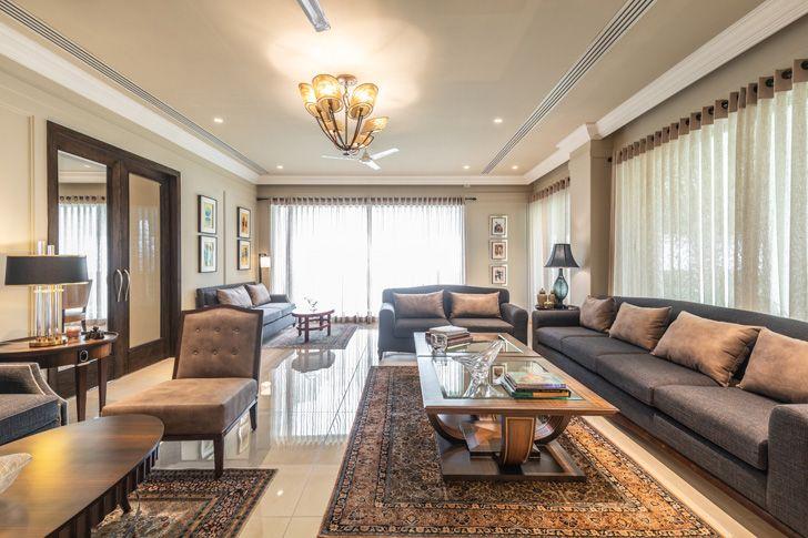"""family room Lutyens residence Creative Design Architects indiaartndesign"""