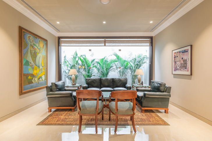 """formal living area Lutyens residence Creative Design Architects indiaartndesign"""