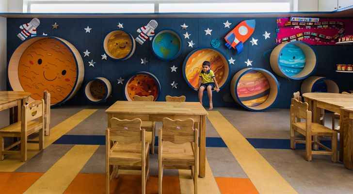 """classroom toy story play school collage studio indiaartndesign"""