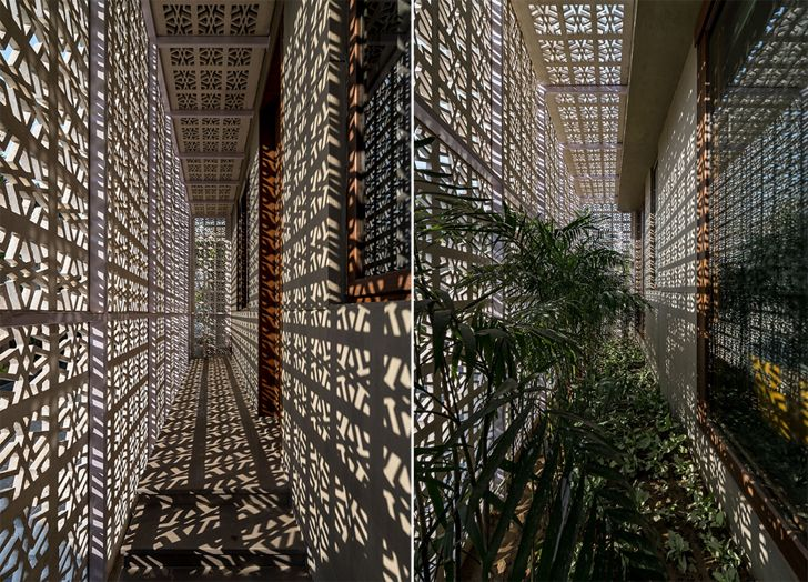"""sheltered passages deck 18 screens residence sanjay puri architects indiaartndesign"""