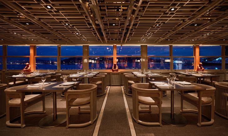 """panorama view towards Bosphorus waters Dragon Restaurant istanbul GEO-ID+MahmutAnlar indiaartndesign"""