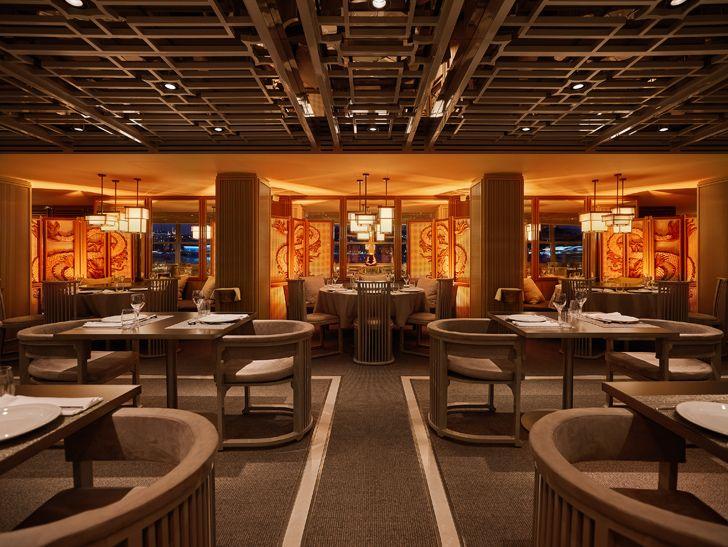 """panorama view towards interiors Dragon Restaurant istanbul GEO-ID+MahmutAnlar indiaartndesign"""
