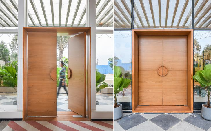 """entrance door SJRPrime MIRA Design Studio indiaartndesign"""