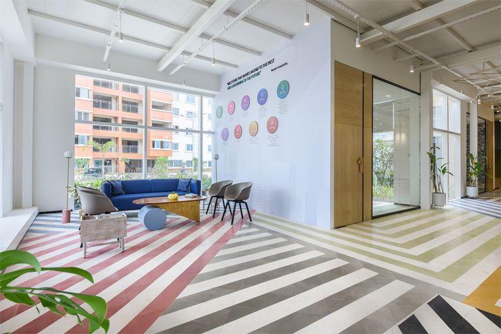 """terrazo cement flooring SJRPrime MIRA Design Studio indiaartndesign"""