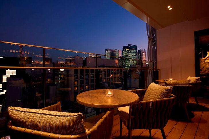 """""""alfresco area by night The Grey Room Tokyo Saheba Singh indiaartndesign"""""""