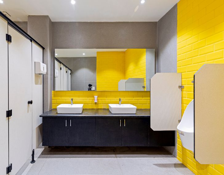 """gents washroom BHive 11 coworking space Studio Bipolar indiaartndesign"""