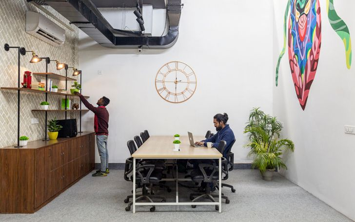 """hot desking BHive 11 coworking space Studio Bipolar indiaartndesign"""