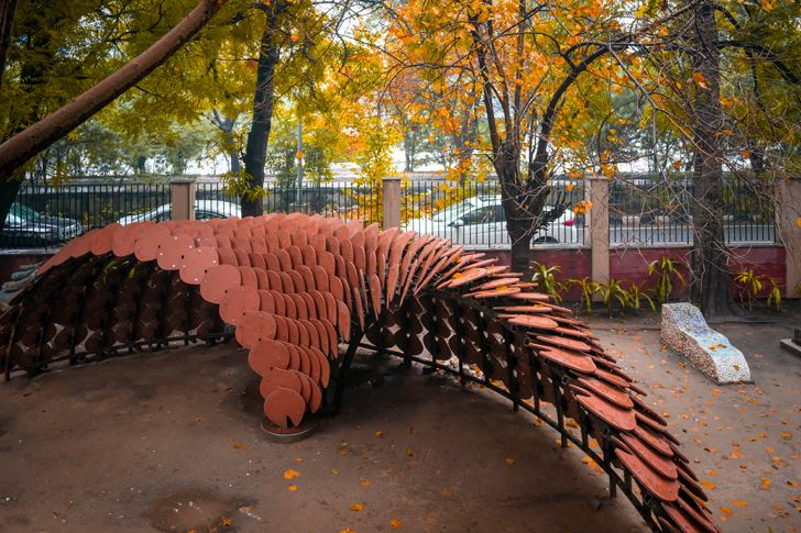 biomimicry and parametrics pangolin pavillion Ant Studio indiaartndesign