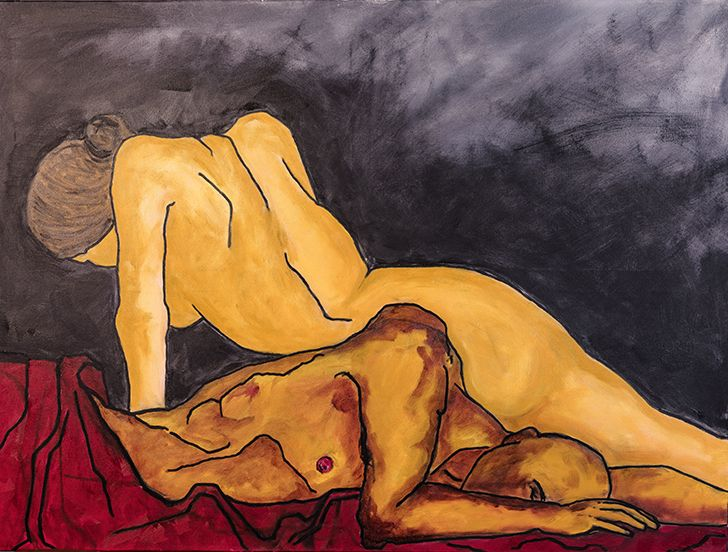 """painting ShobitKumar RSDA MyGoToTherapist indiaartndesign"""