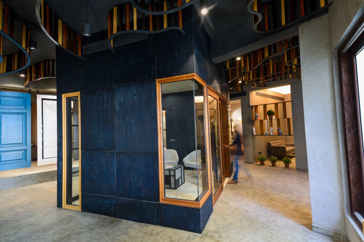 central cabin display Glulam office SpacesArchitects at ka indiaartndesign