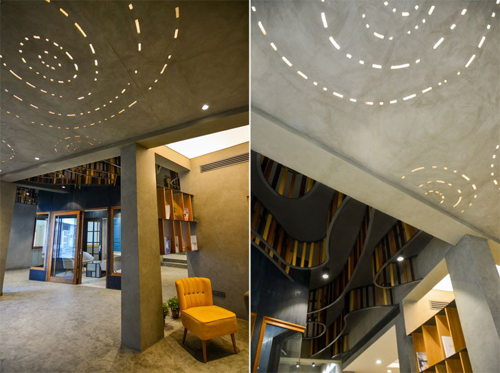 ceiling design Glulam office SpacesArchitects at ka indiaartndesign