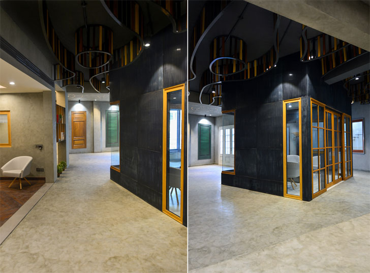"""central cabin Glulam office SpacesArchitects at ka indiaartndesign"""