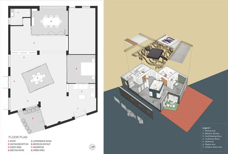 floor plan Glulam office SpacesArchitects at ka indiaartndesign
