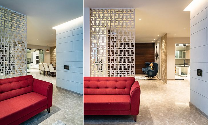contemporary screens home jalandhar spaceracearchitects indiaartndesign