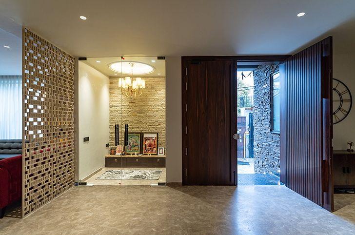 entrance foyer home jalandhar spaceracearchitects indiaartndesign