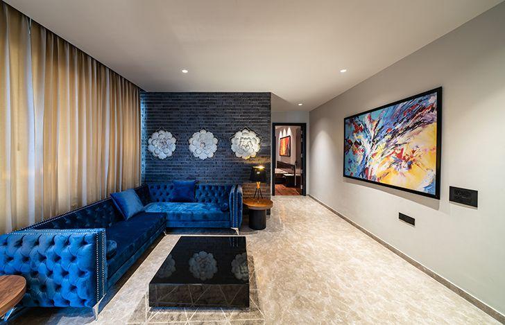 formal living room home jalandhar spaceracearchitects indiaartndesign