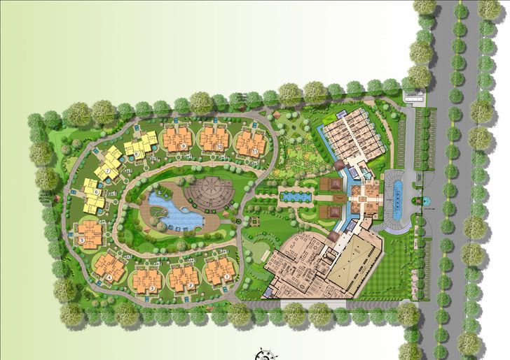 """site plan westin resort jaipur gpm architects indiaartndesign"""
