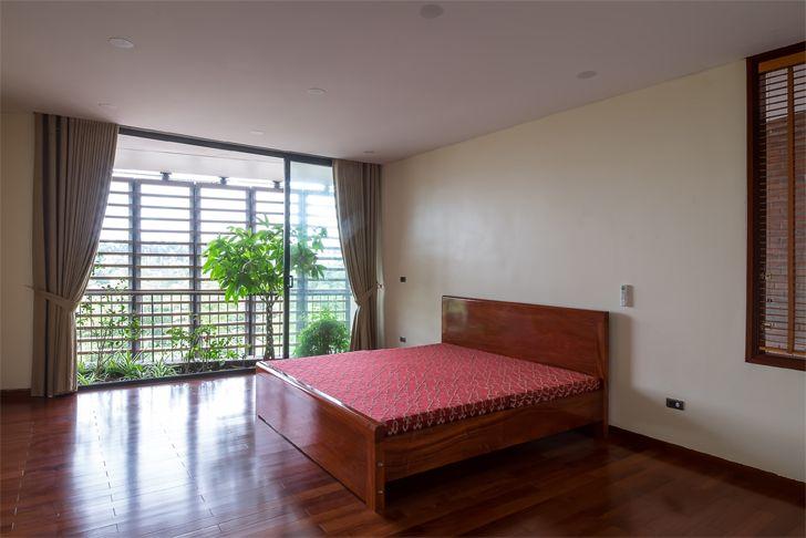 """bedroom Vietnam house H&P Architects indiaartndesign"""