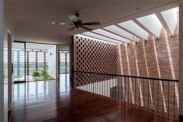 """brick wall Vietnam house H&P Architects indiaartndesign"""