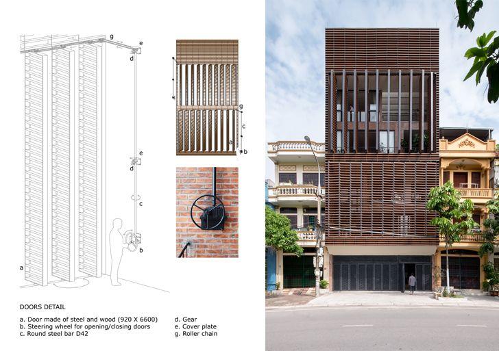 """door detail Vietnam house H&P Architects indiaartndesign"""