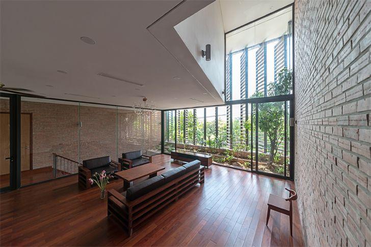 """double volume Vietnam house H&P Architects indiaartndesign"""