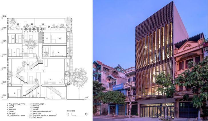 """multi storey Vietnam house H&P Architects indiaartndesign"""