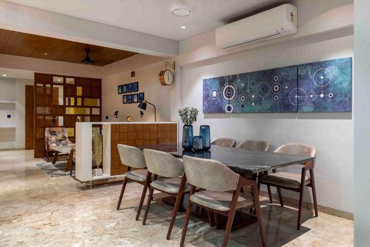 """dining ahmedabad residence ignitus architecture studio indiaartndesign"""