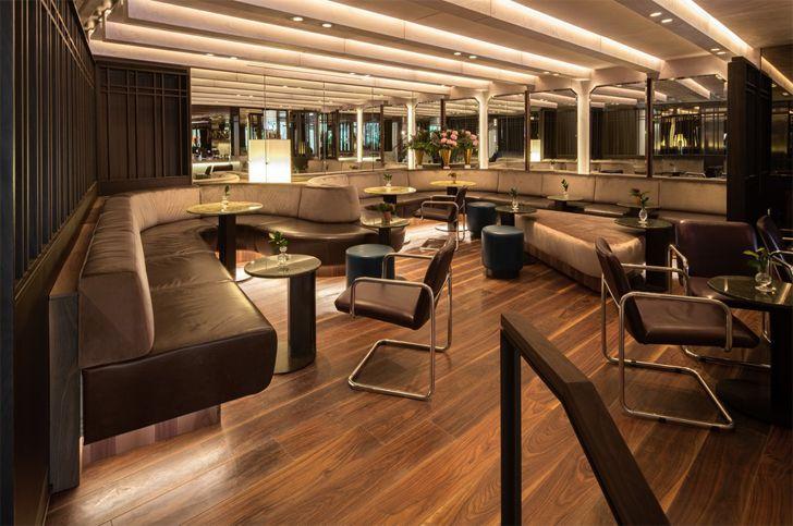 """Le Flaneur bar lounge Le Germain Hotel Atelier Zebulon Perron indiaartndesign"""