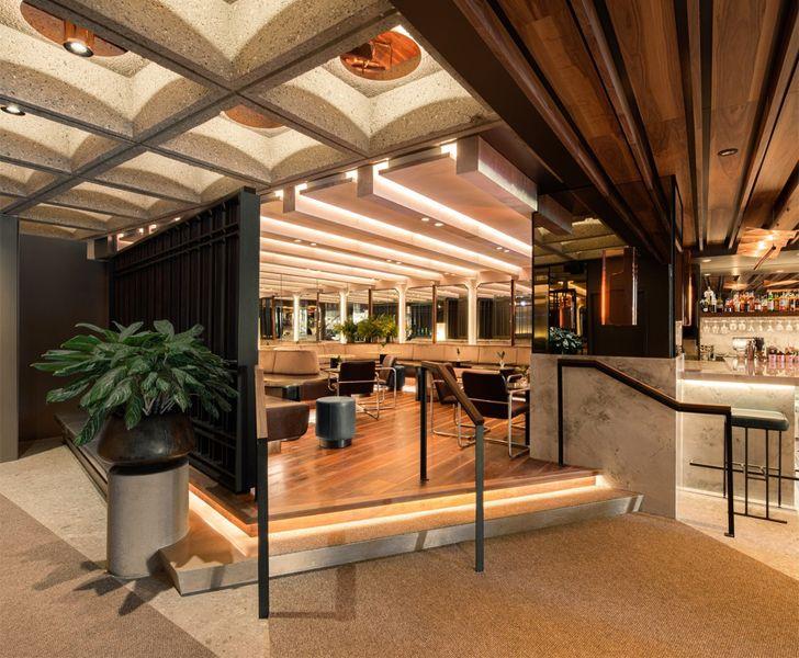 """Brutalist ceiling Le Germain Hotel Atelier Zebulon Perron indiaartndesign"""