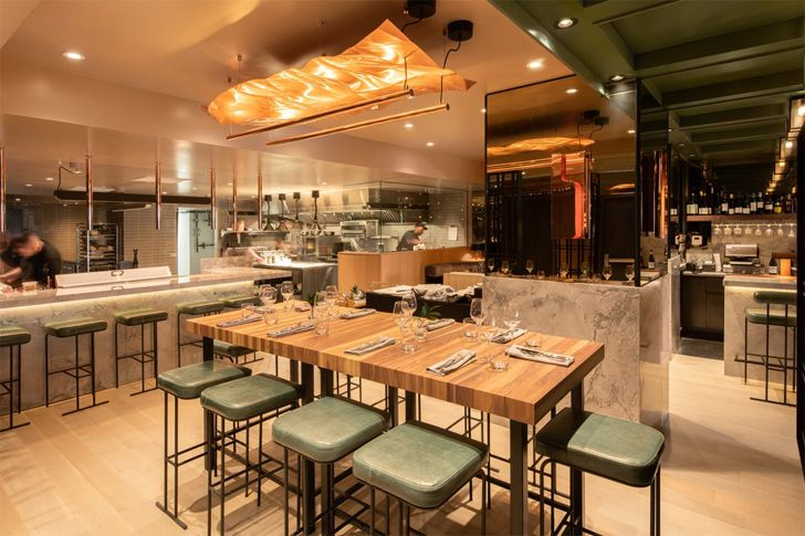 """open kitchen Le Germain Hotel Atelier Zebulon Perron indiaartndesign"""