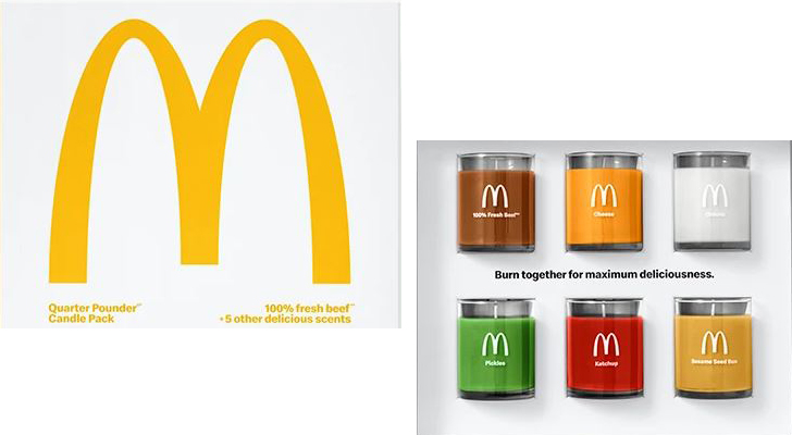 """mcdonalds burger scented candles indiaartndesign"""