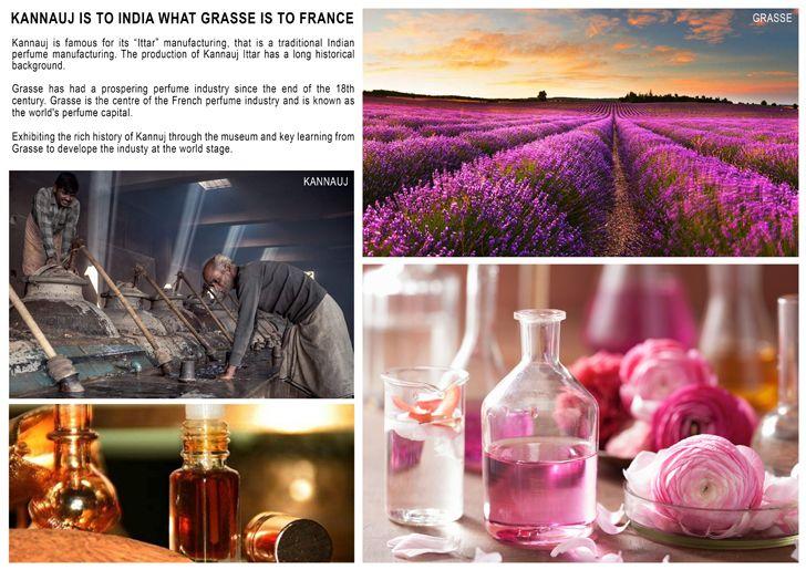 """Grasse Kannauj Perfume Park and Museum Studio Symbiosis indiaartndesign"""