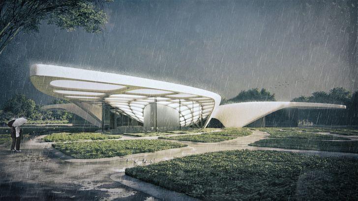 """""""pathways to the museum Kannauj Perfume Park and Museum Studio Symbiosis indiaartndesign"""""""