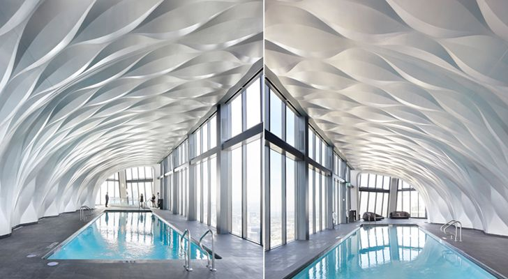 """pool area One Thousand Museum Zaha Hadid Architects indiaartndesign"""