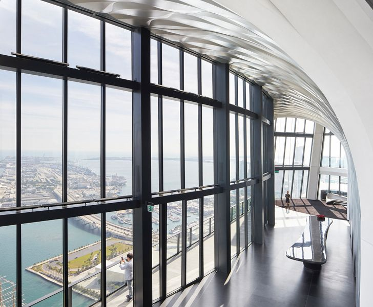 """""""view from sky lounge One Thousand Museum Zaha Hadid Architects indiaartndesign"""""""
