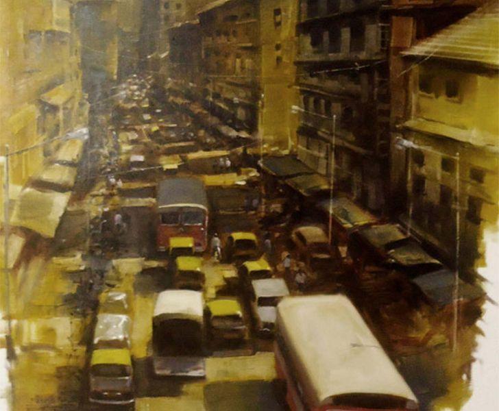 """kya bola mahesh karambele painting exclusive indiaartndesign"""