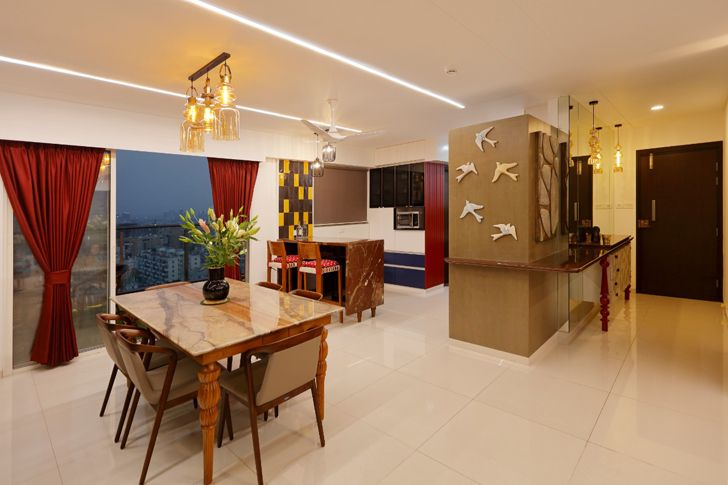 """""""dining area pune residence cluster one creative solutions indiaartndesign"""""""