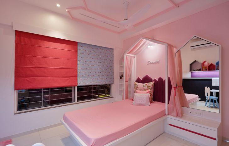 """girls bedroom pune residence cluster one creative solutions indiaartndesign"""