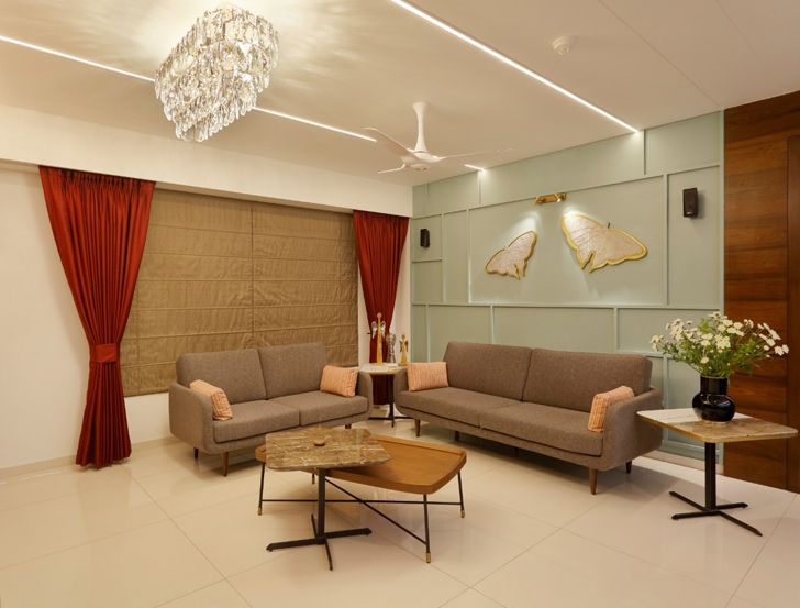 """""""living room pune residence cluster one creative solutions indiaartndesign"""""""