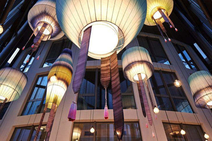 """chandeliers Roman Klis Design HQ Ippolito Fleitz Group indiaartndesign"""
