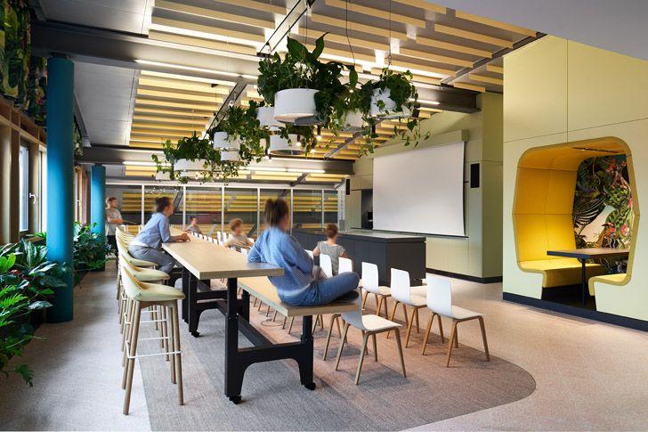 """presentation area Roman Klis Design HQ Ippolito Fleitz Group indiaartndesign"""