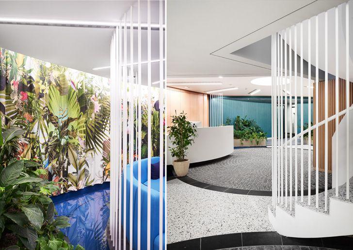 """reception Roman Klis Design HQ Ippolito Fleitz Group indiaartndesign"""