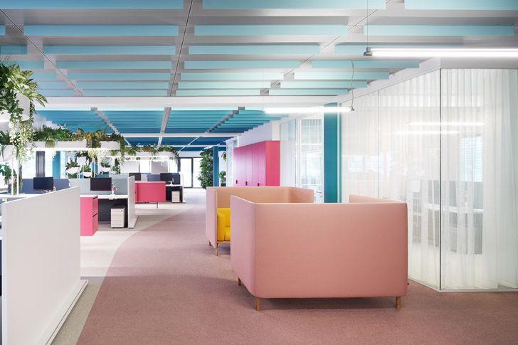 """relaxing colours Roman Klis Design HQ Ippolito Fleitz Group indiaartndesign"""