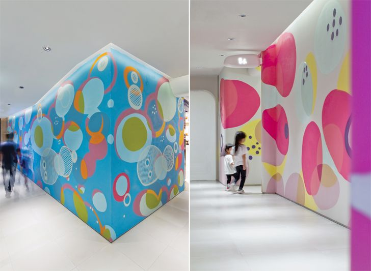 """colourful walls K11 MUSEA Donut Playhouse Panorama Design Group indiaartndesign"""