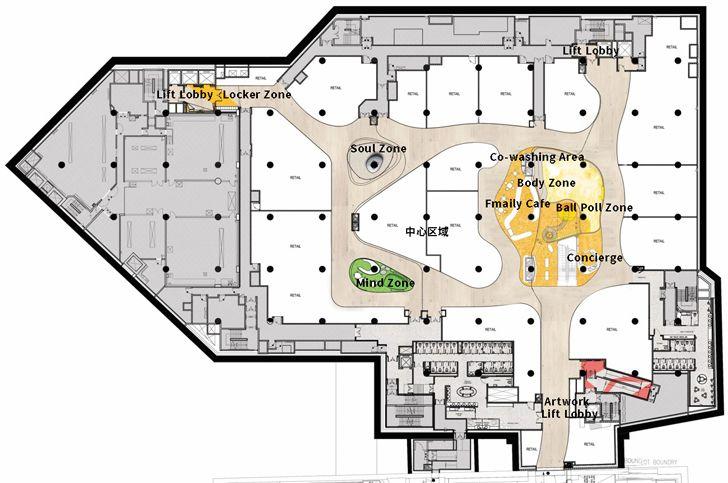 """plan K11 MUSEA Donut Playhouse Panorama Design Group indiaartndesign"""