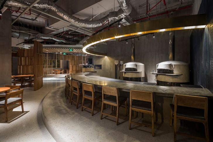 """display kitchen Pizza 4Ps Emporium SEMBA indiaartndesign"""