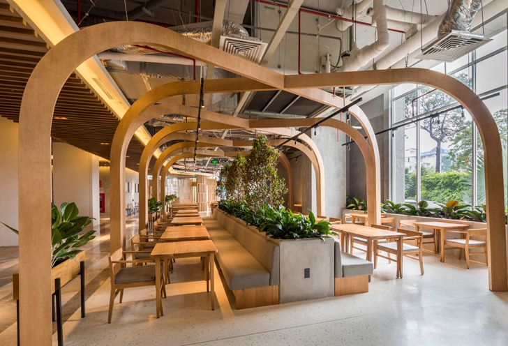 """open interior gazebo Pizza 4Ps Emporium SEMBA indiaartndesign"""