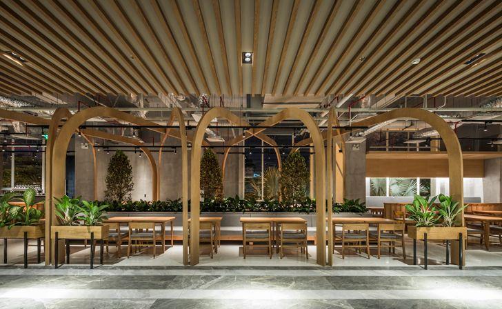 """""""wooden ceiling Pizza 4Ps Emporium SEMBA indiaartndesign"""""""